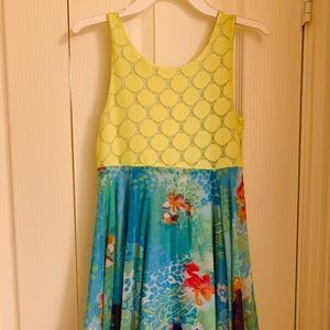 Tear Me Away Reversible Dress With Flowers or line